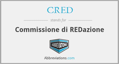 CRED - Commissione di REDazione