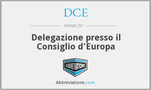 DCE - Delegazione presso il Consiglio d'Europa