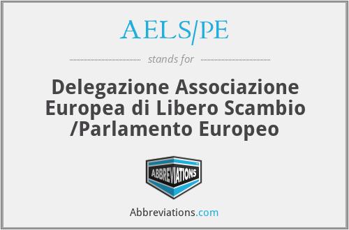 AELS/PE - Delegazione Associazione Europea di Libero Scambio /Parlamento Europeo