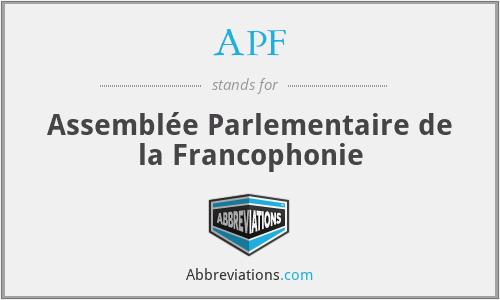 APF - Assemblée Parlementaire de la Francophonie