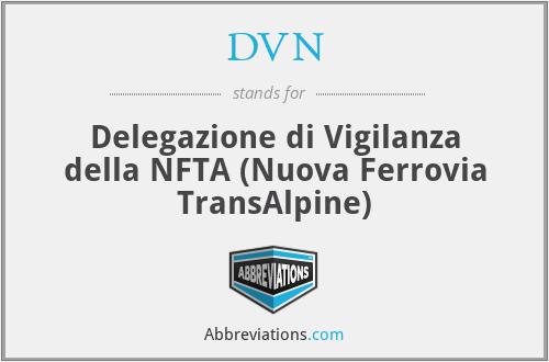 DVN - Delegazione di Vigilanza della NFTA  (Nuova Ferrovia TransAlpine)