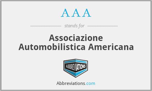 AAA - Associazione Automobilistica Americana