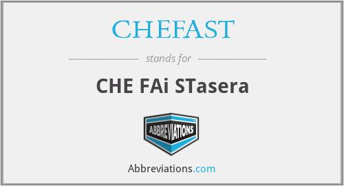 CHEFAST - CHE FAi STasera