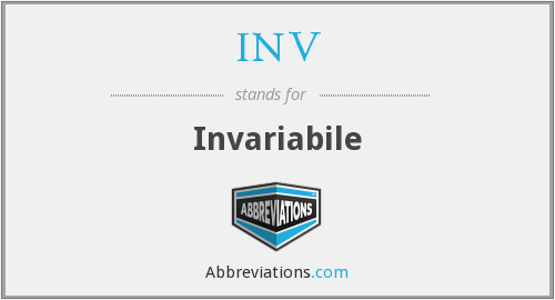 INV - Invariabile