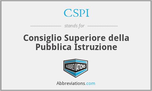 CSPI - Consiglio Superiore della Pubblica Istruzione