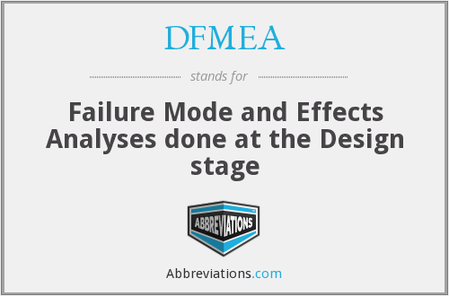 What does DFMEA stand for?