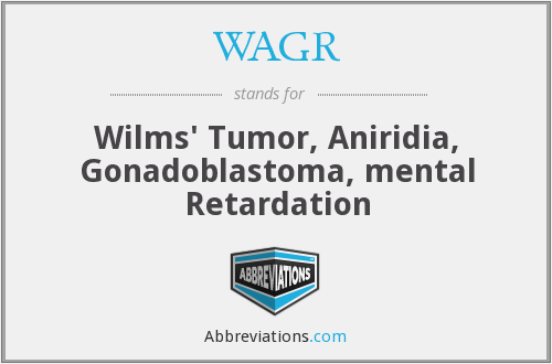 WAGR - Wilms' Tumor, Aniridia, Gonadoblastoma, mental Retardation