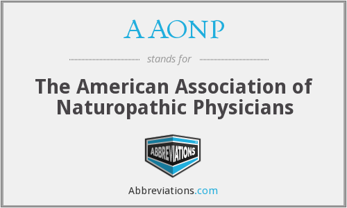 AAONP - The American Association of Naturopathic Physicians