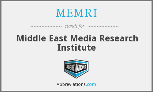 What does MEMRI stand for?