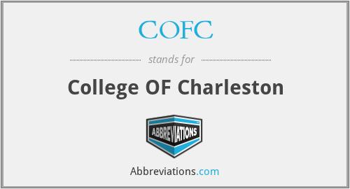 COFC - College OF Charleston