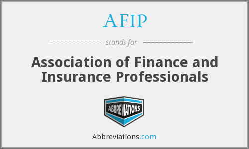 AFIP - Association of Finance and Insurance Professionals
