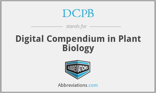 DCPB - Digital Compendium in Plant Biology