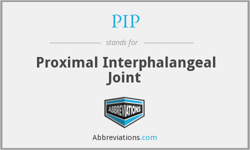 PIP - Proximal Interphalangeal Joint