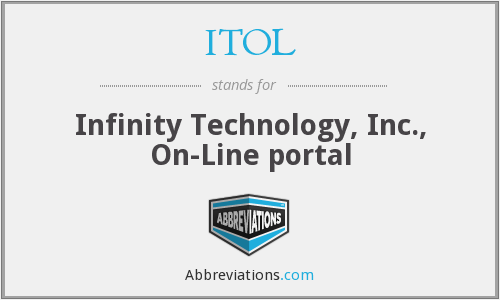 ITOL - Infinity Technology, Inc., On-Line portal