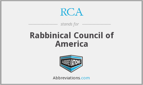 RCA - Rabbinical Council of America