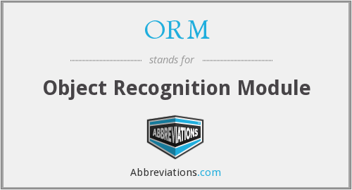 ORM - Object Recognition Module