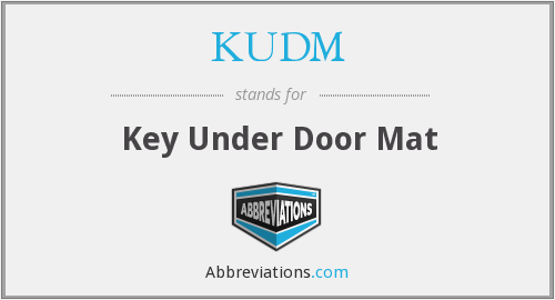 KUDM - Key Under Door Mat