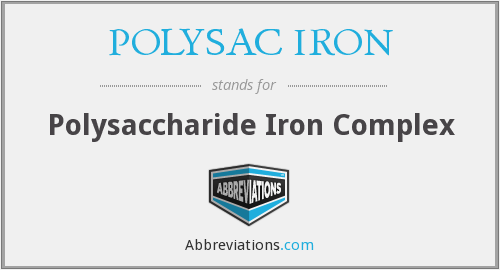 What does POLYSAC IRON stand for?