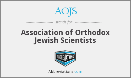 AOJS - Association of Orthodox Jewish Scientists