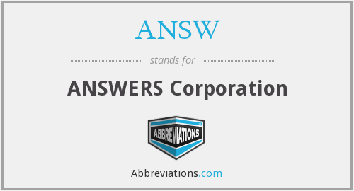 What does ANSW stand for?
