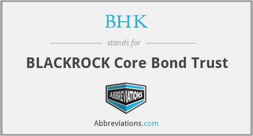 BHK - BLACKROCK Core Bond Trust