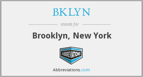 What does BKLYN stand for?