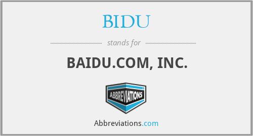 BIDU - BAIDU.COM, INC.