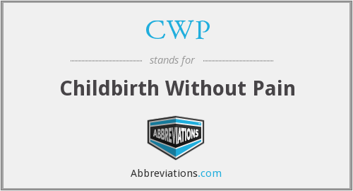 CWP - Childbirth Without Pain