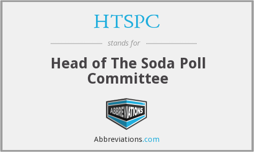 HTSPC - Head of The Soda Poll Committee