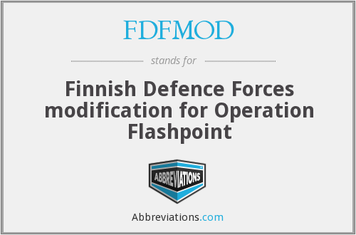 FDFMOD - Finnish Defence Forces modification for Operation Flashpoint
