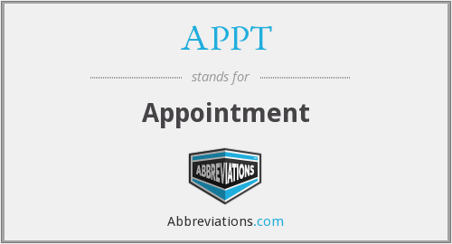 APPT - Appointment