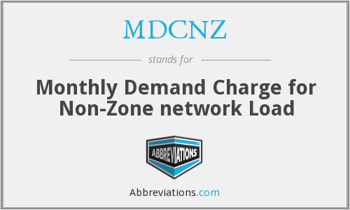What does MDCNZ stand for?