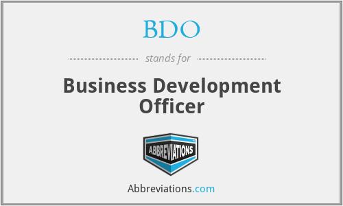 BDO - Business Development Officer