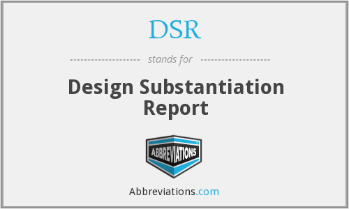 DSR - Design Substantiation Report