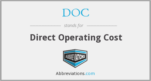 DOC - Direct Operating Cost