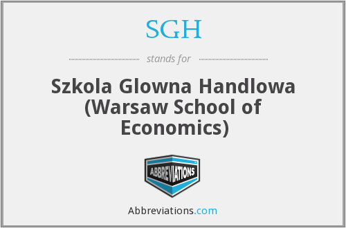 SGH - Szkola Glowna Handlowa (Warsaw School of Economics)
