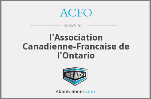 ACFO - l'Association Canadienne-Francaise de l'Ontario
