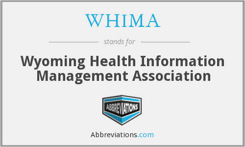 What does WHIMA stand for?
