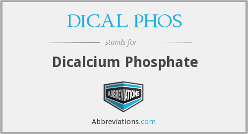 What does DICAL PHOS stand for?