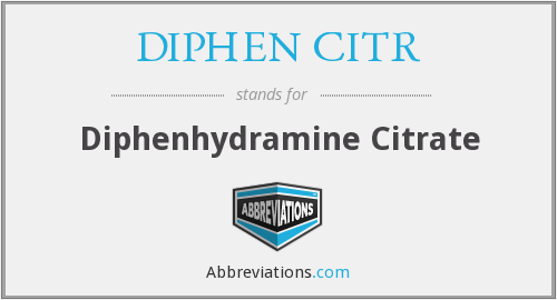 What does DIPHEN CITR stand for?