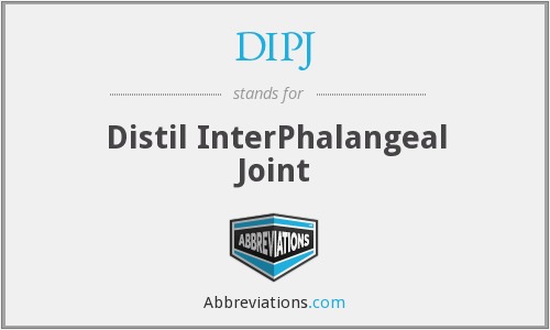 DIPJ - Distil InterPhalangeal Joint