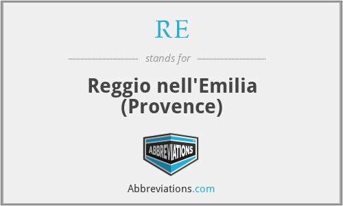 RE - Reggio nell'Emilia (Provence)
