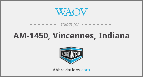 What does WAOV stand for?