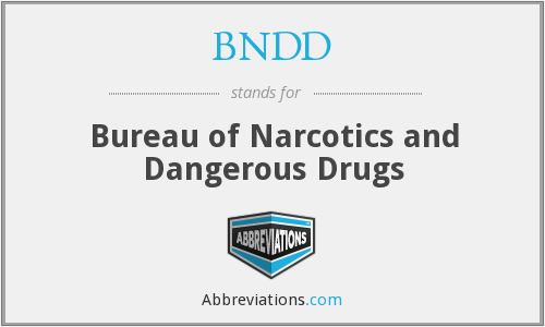 BNDD - Bureau of Narcotics and Dangerous Drugs