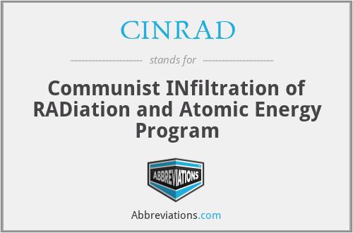 CINRAD - Communist INfiltration of RADiation and Atomic Energy Program