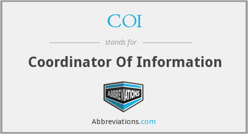 COI - Coordinator Of Information