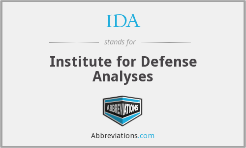 IDA - Institute for Defense Analyses