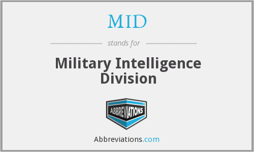 MID - Military Intelligence Division