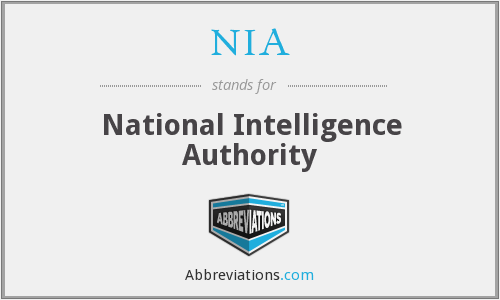 NIA - National Intelligence Authority