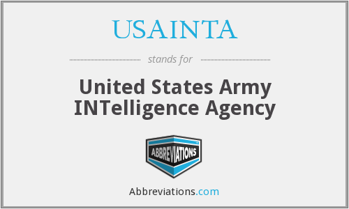 USAINTA - United States Army INTelligence Agency